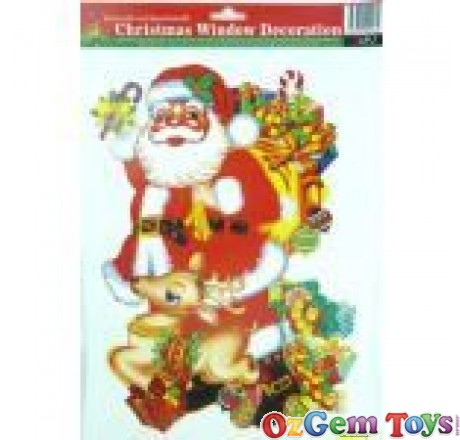 Christmas Window Decoration Santa Gifts stickers