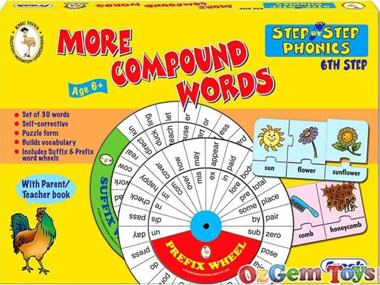 More Compound Words Self Corrective Frank Jigsaw Puzzles Set