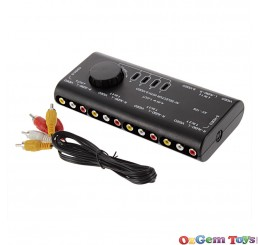 4 Way Audio Video Selector Switch
