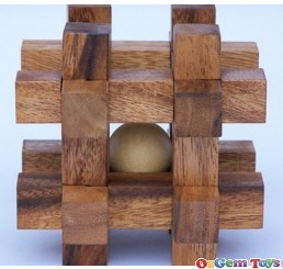 Age Olde Large Cage of Babylon Wooden Puzzle