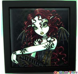 Heavenly Angel Fairy with Red Hair Trinket Tile Box