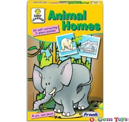 Animal Homes Self Correcting Frank Jigsaw Puzzles 40 Pieces