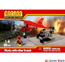 Best Lock Fire Rescue Plane 105 Piece