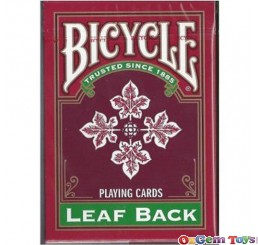 Bicycle Red Leaf Back Playing Cards