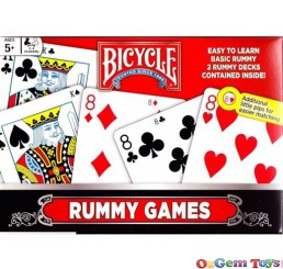 Bicycle Rummy Games Playing Cards 2 Decks
