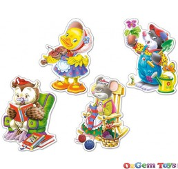 Castorland Leisure Time Four Pack Shaped Jigsaw Puzzles Large Pieces