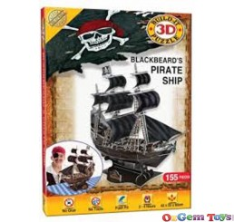 Cheatwell Blackbeards Pirate Ship 3D Puzzle 155pc