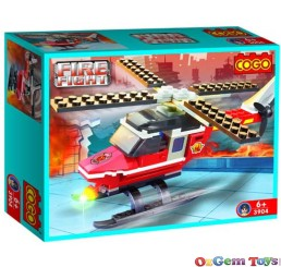 COGO Building Blocks Fire Fighter helicopter