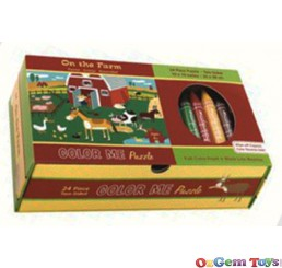 On The Farm Two Sided Colour Me Jigsaw Puzzle Mudpuppy