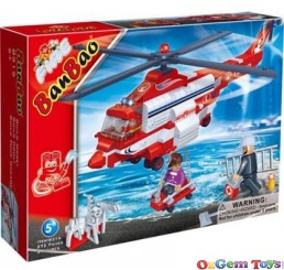 Fire Brigade Helicopter 8315 BanBao Building Set 272 Pieces