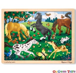 Frolicking Horses 48 Pieces Wooden Jigsaw Puzzle