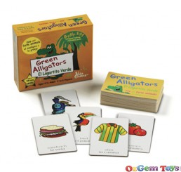Green Alligators Zoo and Farm Animals Bilingual Game