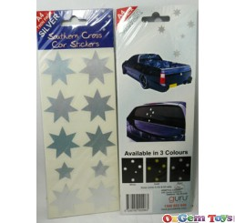 Southern Cross Silver Tone Colour Stickers A4 twin pack