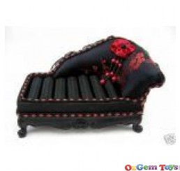 Black & Red Couch Ring Jewellery Holder Display Stand