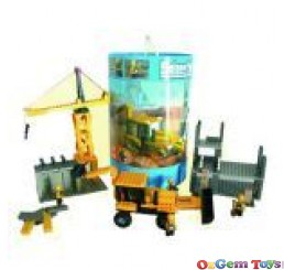 COGO Construction Site Building Blocks Set