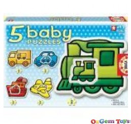 Vehicles 5 Baby Puzzles Educa