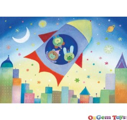 To the Moon Ravensburger Super Size Floor Puzzle 24 Pieces