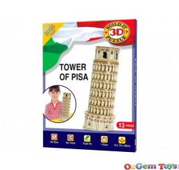 Tower of Pisa 3D Cubic Fun Puzzle 13 Pieces