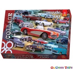 American Cars Collage Trefl Jigsaw Puzzle 1500 Pieces