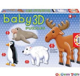 Arctic Animals Baby 3D puzzles Educa