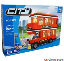 Ausini Luxury Bus Building Brick Set 282 Piece