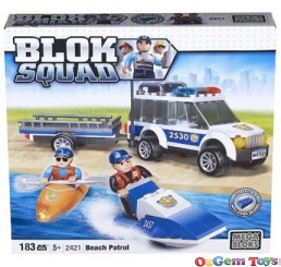 Beach Patrol Mega Blok Childrens Building set Play Set