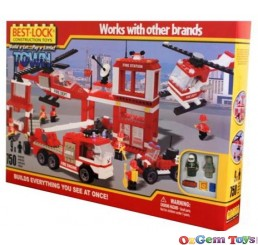Best Lock Fire Station Set 750 Piece