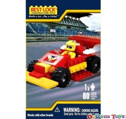 Best Lock Red Racing Car 80 Piece