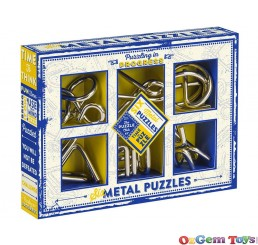 Brain Busting Puzzle Set Of 6 Classic Metal Puzzles