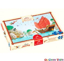 Captain Sharky Rescue from the Cliff Cave Spiegelburg Jigsaw Puzzle 100 Pieces