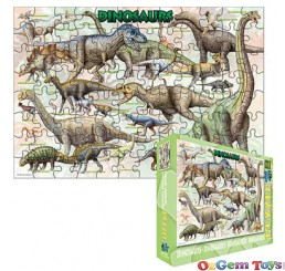Dinosaurs Eurographics Jigsaw Puzzle 100 piece