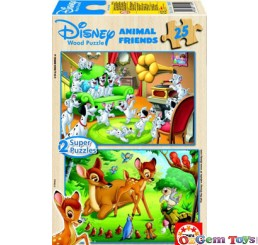 Disney Animal Friends Educa Jigsaw 2 Super Puzzles 25 Pieces