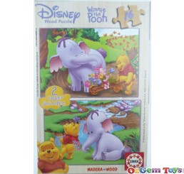 Disney Winnie the Pooh Educa Jigsaw 2 Super Puzzles 16 Pieces