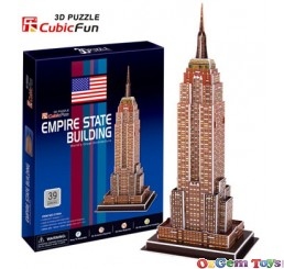 Empire State Building 3D Puzzle CubicFun 39 Pieces