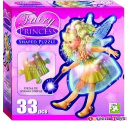 Fairy Princess Shaped Jigsaw Puzzle 33 Pieces