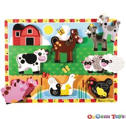 Farm Animals Chunky Wooden Jigsaw Puzzle