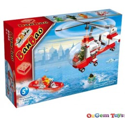 Fire Brigade Helicopter 8305 BanBao Building Set 150 Pieces