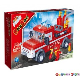 Fire Engine 8299 BanBao Building Set 158 Pieces