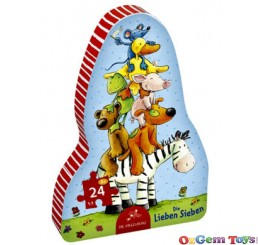 Friendly Seven Shape Spiegelburg Jigsaw Puzzle 24 Pieces