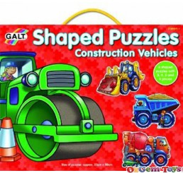 Galt 4 Shapped Puzzles Construction Vehicles