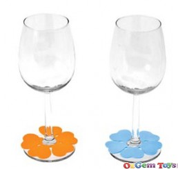 Spring Flowers Glass Marker Set