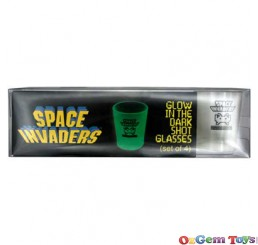 Space Invaders Glow In the Dark Shot Glasses Set of 4