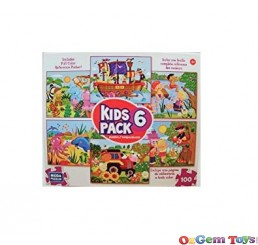 Kids Mega Puzzles Red 6 Pack Jigsaw Puzzles