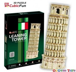 Leaning Tower 3D Puzzle CubicFun 13 Pieces