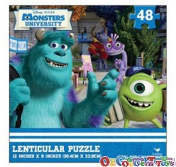 Monsters University Disney Pixar Lenticular Jigsaw Puzzle 48 piece by Cardinal 1
