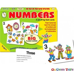 Numbers Big Flash Cards Set