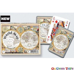 Piatnik Double Playing Card World Map