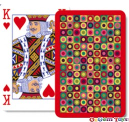Red Dots Playing Cards Single Pack Piatnik