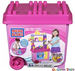 Pink Mega Bloks Build and Play Kitchenette