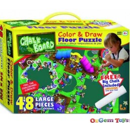 Playground Fun Chalkboard Floor Puzzle 48 Pieces